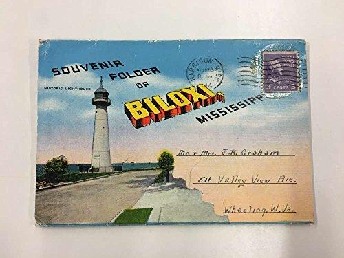 Biloxi Mississippi Historic Bldg Souvenir Folder Antique Postcard K92219 (Postcard Mississippi)