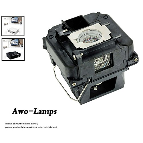 (AWO Premium Replacement Lamp with Housing Fit for EPSON ELPLP68 / V13H010L68 PowerLite Home Cinema 3010/HC3010e/3020 3D/3020e 3D;)