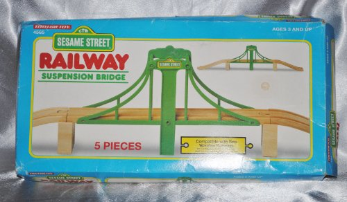 1995 Sesame Street Tootsietoy Suspension Bridge Wooden Train