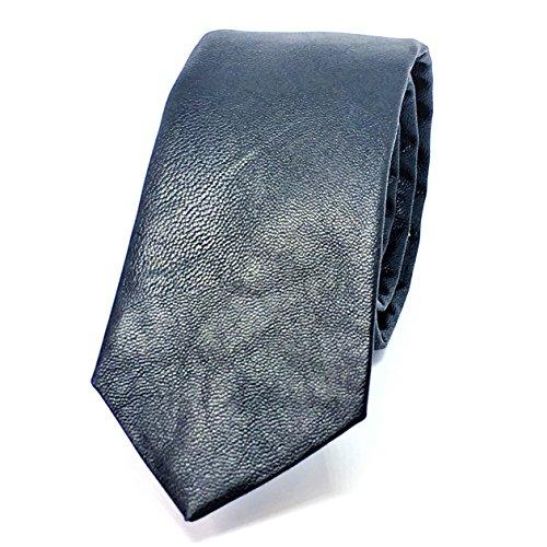 Leather Skinny Tie - BLACK FAUX LEATHER SKINNY TIES