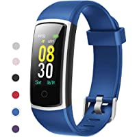 YAMAY Fitness Tracker with Blood Pressure Monitor Heart Rate Monitor,IP68 Waterproof Activity Tracker 14 Mode Smart Watch with Step Counter Sleep Tracker,Fitness Watch for Women Men Kids 2019 Version