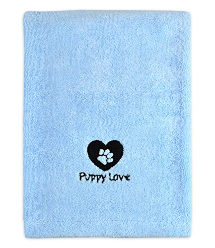DII Bone Dry Microfiber Pet Bath Towel, Ultra-Absorbent & Machine Washable for Small, Medium, Large Dogs and Cats
