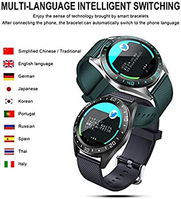 Fitness /&Activity Tracker Sleep Monitor IP67 Waterproof with 1.2 Inch Full Touch Screen Bluetooth Smartwatch Heart Rate Monitor FEDBNET GT105 Smart Watch Pedometer Call Notification for Android /& iOS