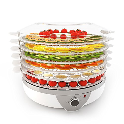 Cosway 5 Stackable Trays Electric Food Dehydrator, for Preserve Snack, Food, 500W