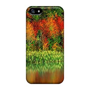 Premium Durable Autumn Forest Reflected In A River Fashion Iphone 5/5s Protective Cases Covers