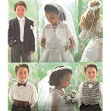 BUTTERICK PATTERN B4059 CHILDREN'S/BOY'S/GIRL'S BOLERO, VEST, NECKTIE, BOWTIE, ARMBAND, CUMMERBUND BAG, VEIL AND HEADPIECE SIZE 2-5