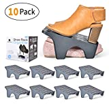 Fervita Shoe Rack Organizer, 2 Tier Smart Shoe Rack Space Saver for Bedroom Closet, Entryway, Mudroom, Shelf Use, Supports Heels, Tennis, Athletic, Flats, and Footwear, Vertical Stand, Non-Slip Shelf