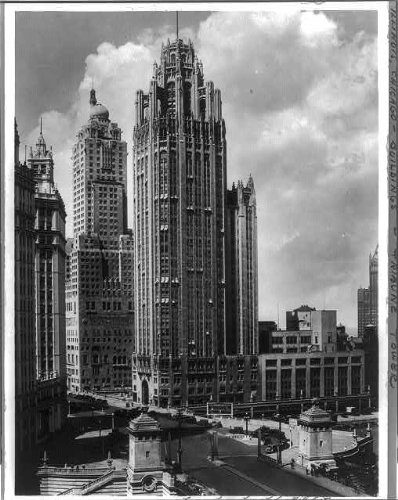 Photo: Tribune Tower Building,Chicago,IL,c1931,N Michigan - Michigan Ave And Chicago