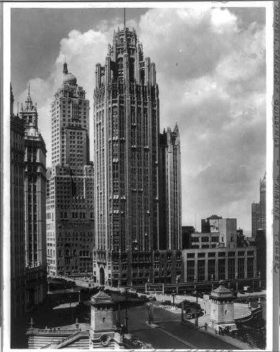 Photo: Tribune Tower Building,Chicago,IL,c1931,N Michigan Ave (Chicago Il Michigan Ave)
