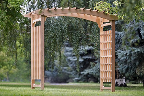 All Things Cedar PA106 Garden Wedding Arbor (Cedar Arched Arbor)