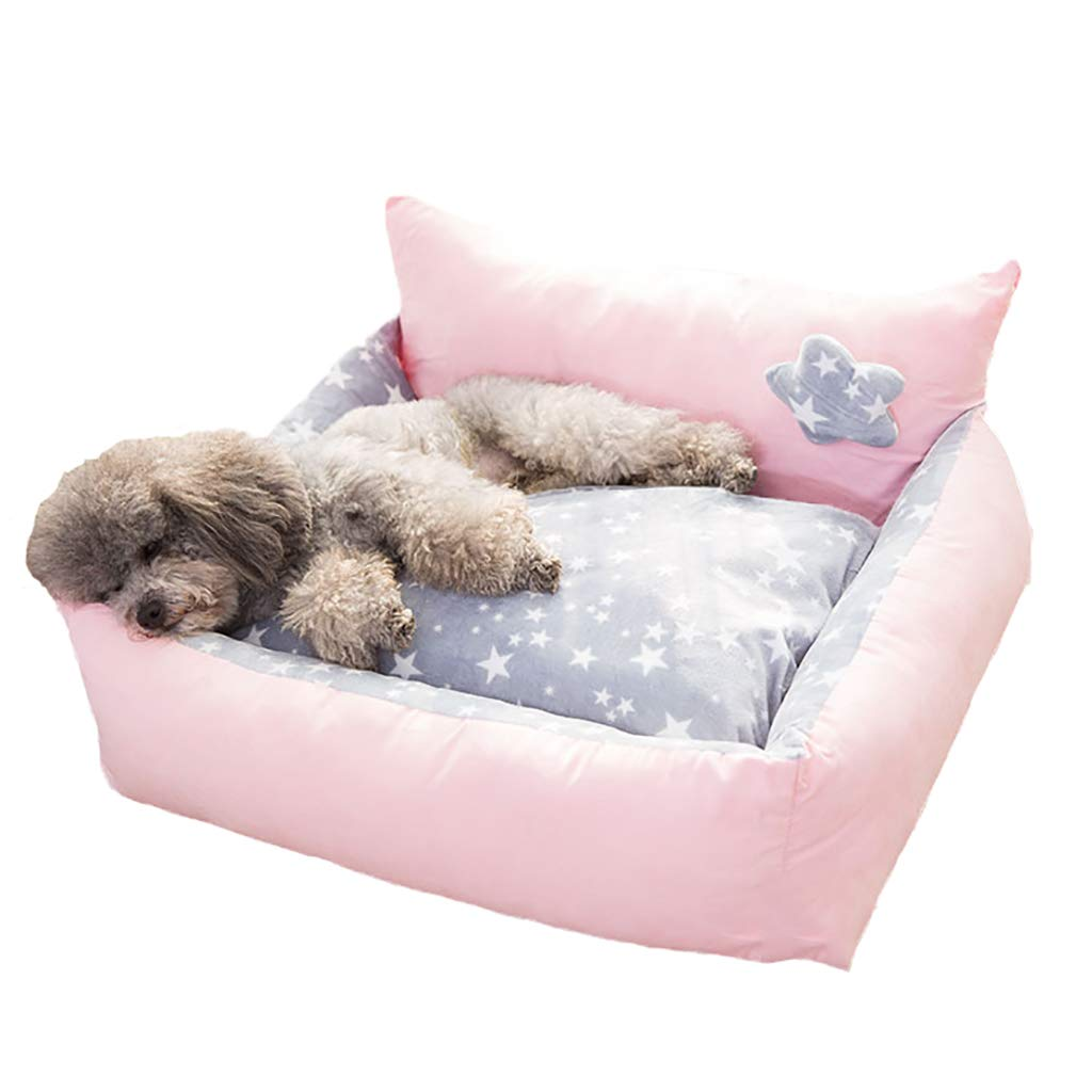 B 605028Pet house kennel Cat nest Washable Small dog Medium dog pet nest Pet bed Thicken filling Universal yearround (color   D, Size   70  60  30)