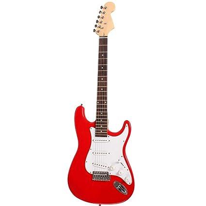 NUYI-4 Guitarra eléctrica Genuina ST Serie Guitarra eléctrica Rojo Principiante práctica Tocando Guitarra eléctrica