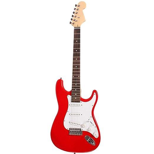 NUYI-4 Guitarra eléctrica Genuina ST Serie Guitarra eléctrica Rojo ...