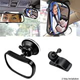 Car Mirror for Baby, Alotm Back Seat Baby Mirror - Rear View Baby / Infant In Back Seat - Shatter-proof Safety - Suction Cup
