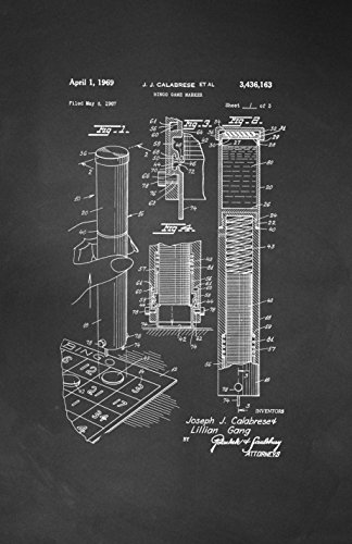 Framable Patent Art PAPSSP104C The Original Poster Art Print Bingo Night Family Game 11in by 17in Patent, Chalkboard by Framable Patent Art