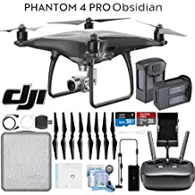 DJI Phantom 4 Pro Obsidian Quadcopter Drone with Spare Battery & Kit