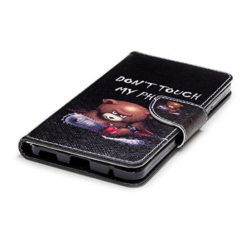 protection fente de en avec fermeture Hozor avec aérosol d'impression 2018 6 carte Nokia magnétique Bear étui conception cuir peint cas pour PU support Flip en portefeuille wpqHpU1