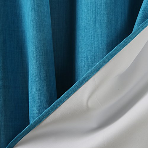 Authentic Deconovo Blackout Curtain Panels Heavy Thick Thermal Grommet Curtains With Coating