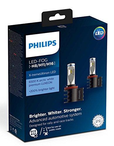 Philips Xtreme Ultinon LED Headlight Foglight Car Bulbs H8 / H11 / H16 (Twin) 12794UNIX2