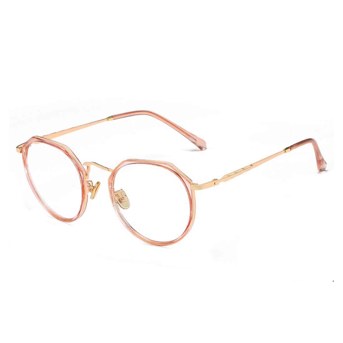 D.King Unisex Irregular Shortsighted Myopia Glasses Frame Retro Clear Lens Eyeglasses DK9156-1