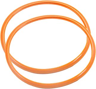 uxcell Pressure Cooking Sealing Ring, 22cm Silicone Rubber Gasket Sealing Ring for Pressure cookings, Set of 2
