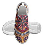 DiamondsJun Unisex Arabic Ornamental Rug Pattern Inspired Design With Flowers And Leaves All Over 3D Printed Mesh Slip On Fashion Comfortable Shoes 42