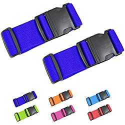 "AOKLANT Luggage Strap Suitcase Straps | 2"" Width X Maximum Length 79"" 