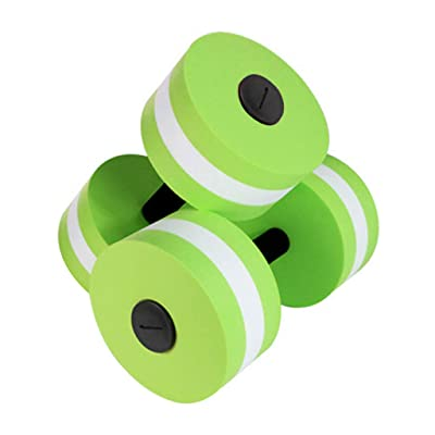 ICCQ Aquatic Exercise Dumbbells Set of 2 For Water Aerobics Work Your Upper Fitness: Toys & Games