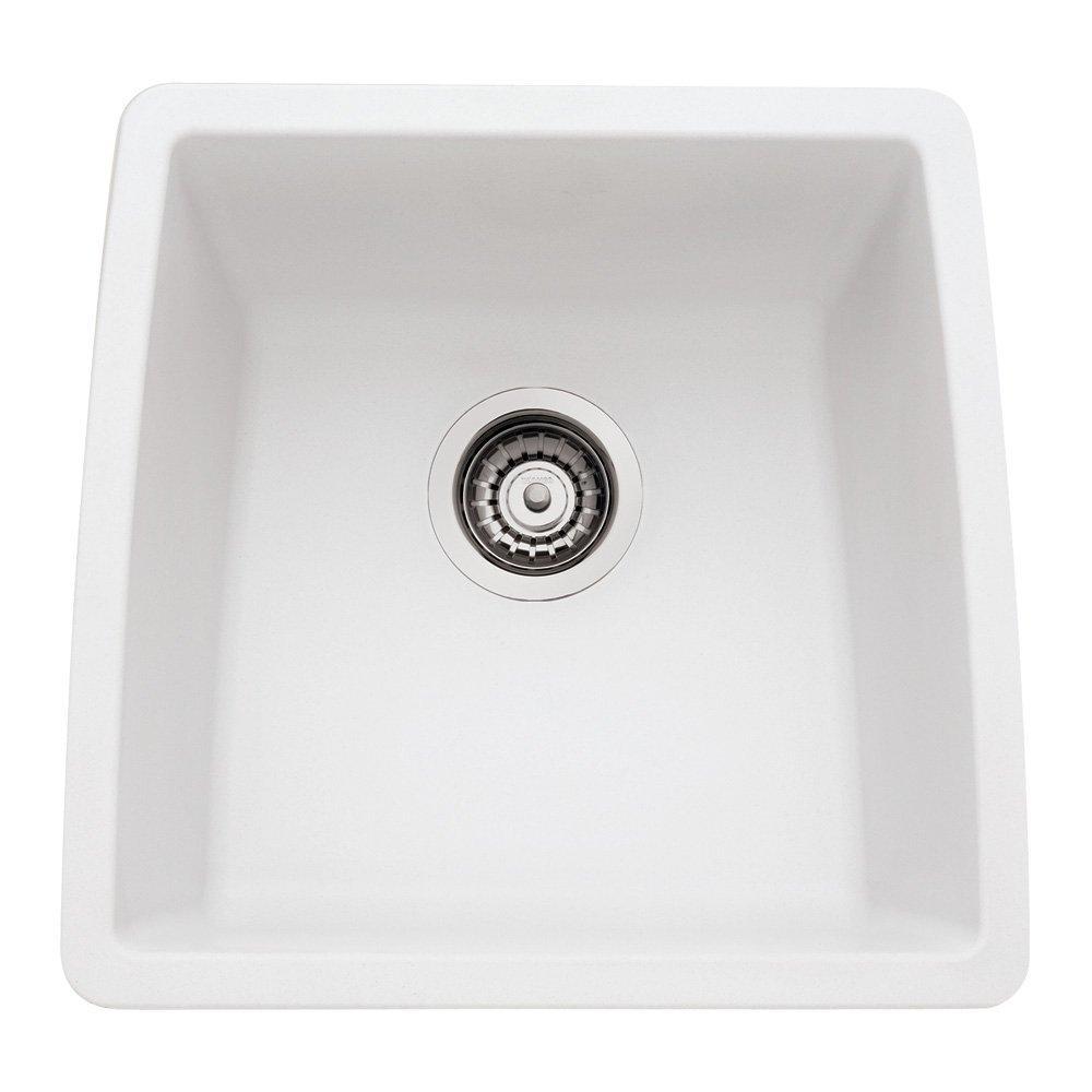 Blanco 440081 Performa Silgranit II Single Bowl Sink, White   Single Bowl  Kitchen Sink White   Amazon.com