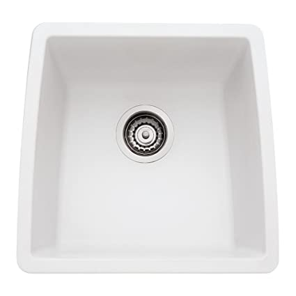 Blanco 440081 Performa Silgranit II Single Bowl Sink, White