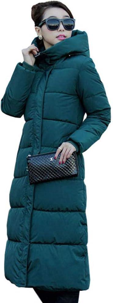 zzschs Cappotto Invernale da Donna Cappotto Invernale Lungo Addensare Plus Velluto Casual Elegante Giacca di Grandi Dimensioni Felpa Giacca A Vento VERDE SCURO