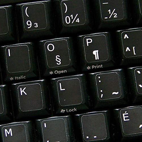 QWERTY - Adhesivo para teclado (fondo negro), color negro ...