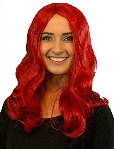 My Costume Wigs Black Widow Red Wig One Size Fits All (Black Widow Theatrical Costume)