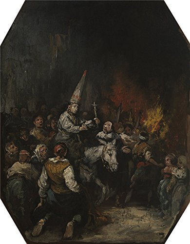 The High Quality Polyster Canvas Of Oil Painting 'Lucas Velazquez Eugenio Condemned By The Inquisition ' ,size: 24 X 31 Inch / 61 X 78 Cm ,this Reproductions Art Decorative (Rent A Easter Bunny Costume)