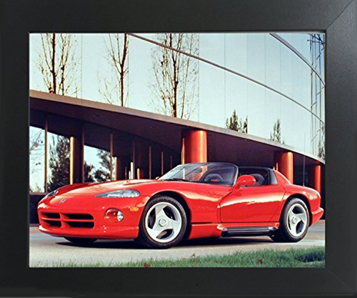 Impact Posters Gallery 1992 Dodge Viper Greg Smith Sports Car Wall Decor Contemporary Black Framed Picture Art Print ()