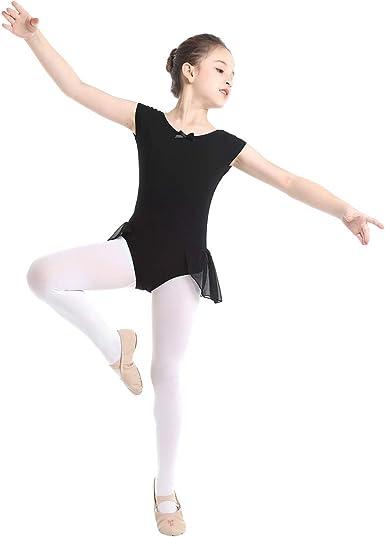 inhzoy Maillot de Danza Clásica para Niña Leotardo de Ballet ...