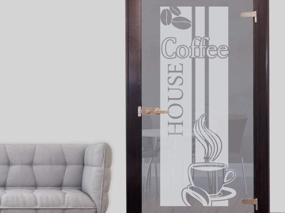 79x30cm Selbstklebende Fensterfolie Aufkleber f/ür Glast/ür GRAZDesign Fenstertattoo K/üche Kaffee Coffee House mit Tasse