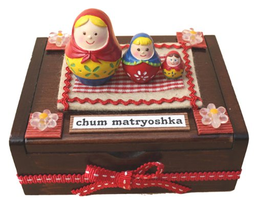 Billy handmade matryoshka doll house kit wooden box 8731 (japan import)