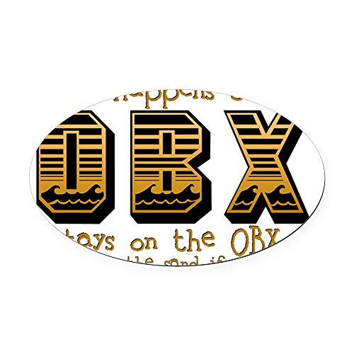 CafePress - OBX Happens Oval Car Magnet - Oval Car Magnet, Euro Oval Magnetic Bumper Sticker