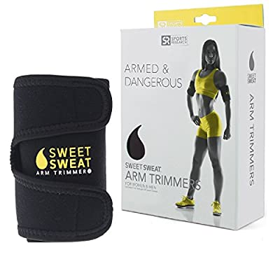 Sweet Sweat Premium Arm Trimmers for Men & Women | Helps Improve Circulation & Sweating | Includes Bonus Breathable Carrying Bag