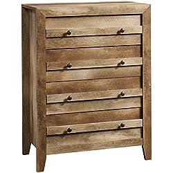 """Sauder 418175, Dressers, Chest, 32.677"""" L X 17.52"""" W X 43.228"""" H, Craftsman Oak"""