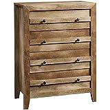 Sauder 418175 Dressers, Chest, 32.677' L X 17.52' W X 43.228' H, Craftsman Oak