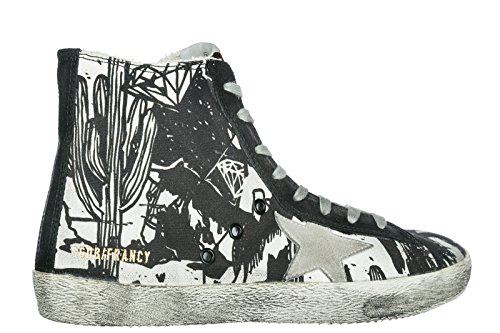 Golden Goose Scarpe Sneakers Alte Uomo Nuove Francy Nero