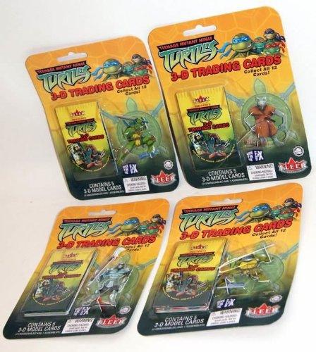 Fleer Teenage Mutant Ninja Turtles 3d Trading tarjetas (48 ...