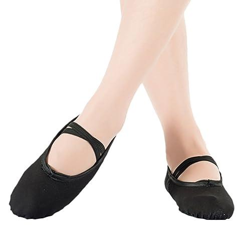 Scothen Zapatillas de Ballet Suaves Zapatillas de Baile Gimnasia Bailar Zapatillas de Punta Dividida Ballet Para