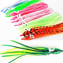 Luengo 25pcs 15cm Multicolour Soft Plastic Octopus Lures Hoochie Squid Skirt Lures Trolling Saltwater Bait