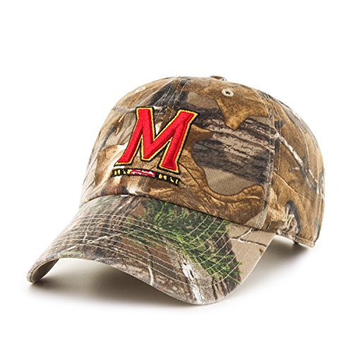 '47 NCAA Maryland Terrapins Realtree Clean Up Adjustable Hat, One Size, Realtree Camo