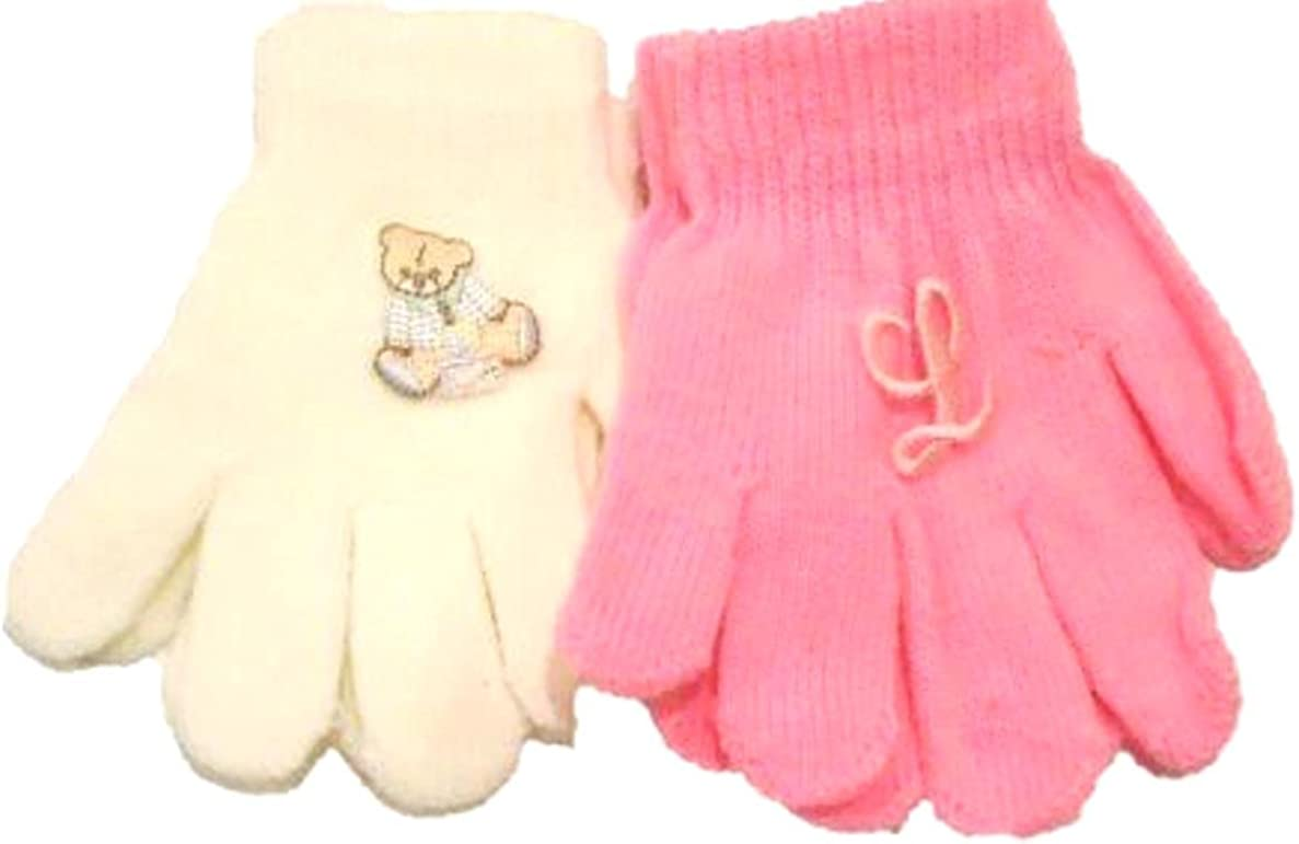 4 Pairs Magic Gloves for Ages 1-4 Years One Monogram