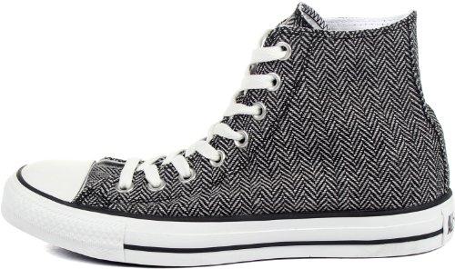 Converse - Zapatos Chuck Taylor As Hi, Talla: 6.5 D (m) Us Hombres / 8.5 B (m) Us Mujeres, Color: Blanco / Negro