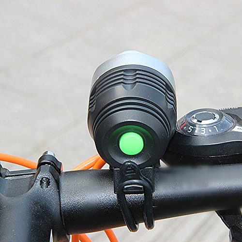NszzJixo9 Rechargeable Bike Light-Mountain Bike Light LED Lighting Accessories USB Charging,Super-Bright 3000 Lumens - Fits All Bicycles, Hybrid, Road, Easy Install & Quick Release